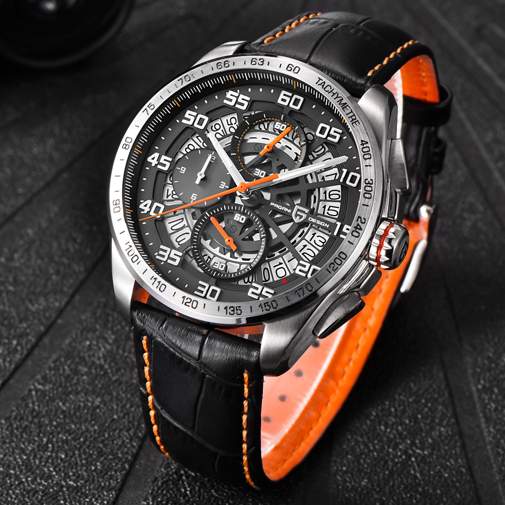 Relogio Masculino 2017 Men Luxury Brand Pagani Design Multifunction Sport Watches Dive 30m Chronograph Military Quartz Watch Man reef tiger brand men s luxury swiss sport watches silicone quartz super grand chronograph super bright watch relogio masculino