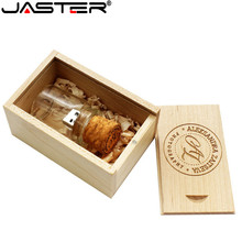 JASTER  Glass Bottle with Cork USB Flash Drive (Transparent) 100% Full Capacity 4GB 8GB 16GB 32GB special gift for lovers
