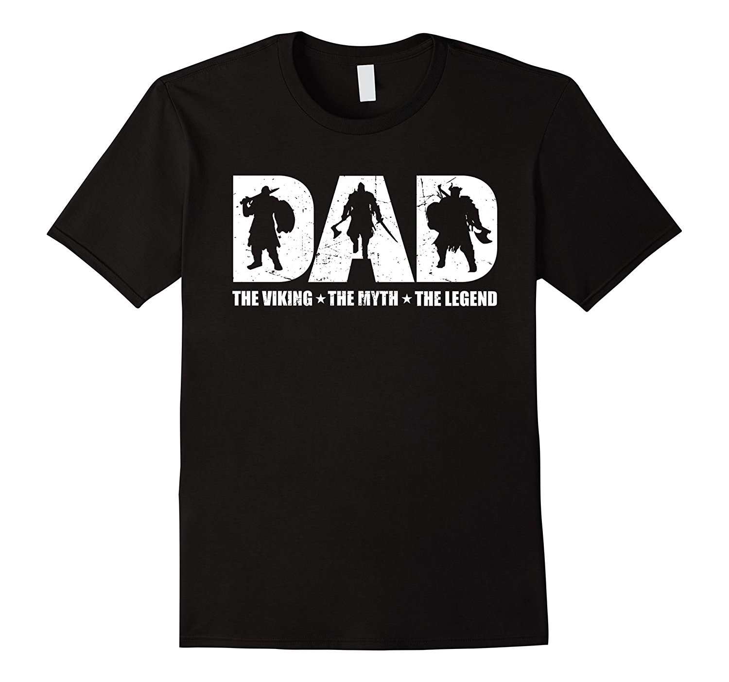 Dad The Viking The Myth The Legend T-shirt Summer Short Sleeve Shirts Tops S~3Xl Big Size Cotton Tees Free Shipping T Shirt ...