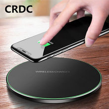 CRDC Qi Wireless Charger 10 W QC 3.0 Ponsel Cepat untuk Iphone Samsung Xiaomi Huawei Dll Wireless USB Charger pad PK AUkEy(China)