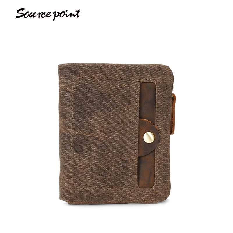 YISHEN Unisex Waterproof Vintage Short Wallet Women Men Casual Clutch Wallet Card Holders Purse Fashion Canvas Wallet YD-3006#