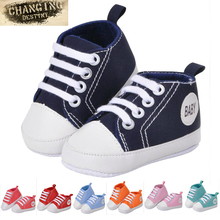0-18 Month 6 Colors Babies First Walkers Baby's Soft Bottom Shoe Unisex Canvas Shoes