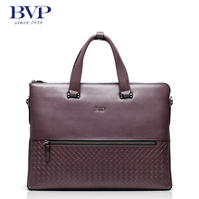 BVP Лидер продаж Для мужчин 100% натуральная кожа сумка Портфели сумки Для мужчин сумка 15 «портфель для ноутбука Портфели T1021