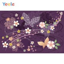 Обои yeele вишневый цвет бабочка Виноград фиолетовый фон для