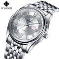Moda Top Marca De Luxo Relógios Homens de Aço Quartz Dress Watch 30 M Relógio À Prova D' Água Relogio masculino