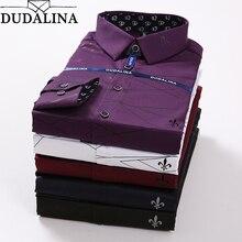 Dudalina, полосатая рубашка для мужчин, Camisa Masculina, с длинным рукавом, блуза, для мужчин, Social Masculina, облегающая, резерв, Sergio K, жаккард