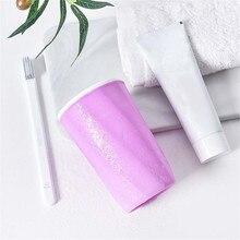 Здоровый Ванная комната Зубная щётка чашка для зубной пасты держатель кружка с ремнем Питьевая чашка для полоскания горла C515