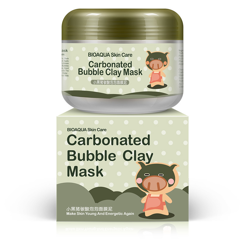 BIOAQUA Deep Cleansing Carbonated Bubble Clay Face Mask Mud Moisturizing Nutrition Repair Mask Oxygen Bubble Carbonate Mud Mask