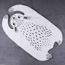 Style nordique Bébé Jeu Matelassé Tapis Lion Tigre Raton Laveur Renard ours Panda Animaux Couverture Pad Racing Tapis Tapis Chambre D'enfants décoration