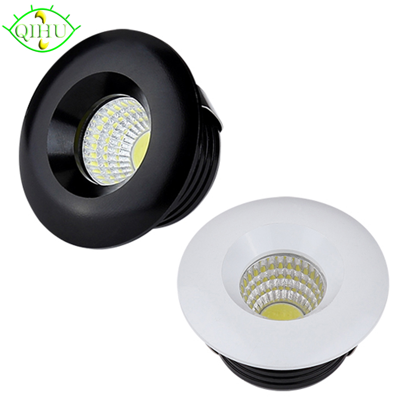 LED Spot Lamps Mini Downlights 3W Dimmable Recessed Down Lights 110V 220V Cabinet Indoor Ceiling Display Jewelry Lighting (China)