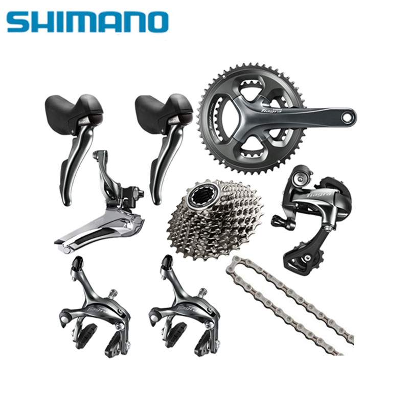 Shimano TIAGRA 4700 10 2*10 Speed 50/34 52/36 170mm 172.5mm Derailleurs and Brake Groupset for Road Bike Bicycle ш мано tiagra ti130a