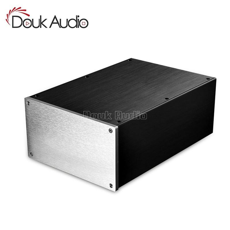 Amplificateur de châssis en aluminium Douk Audio/préampli/ampli à lampes/DAC/boîtier d'alimentation W220 * H120 * D311 mm