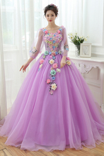 100%real luxury light blue/light purple long sleeve medieval dress Renaissance Gown queen/princess victoria//Marie dress