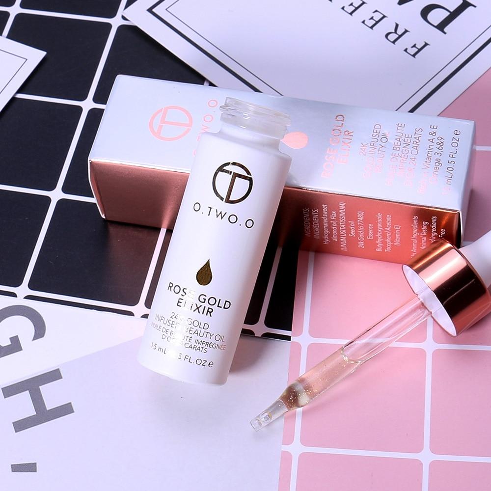 O. Dwóch. O 24K różowe złoto eliksir olejek podkład do makijażu usta baza twarzy makijaż witamina nawilżający łatwe do wchłonięcia pielęgnacja twarzy 6