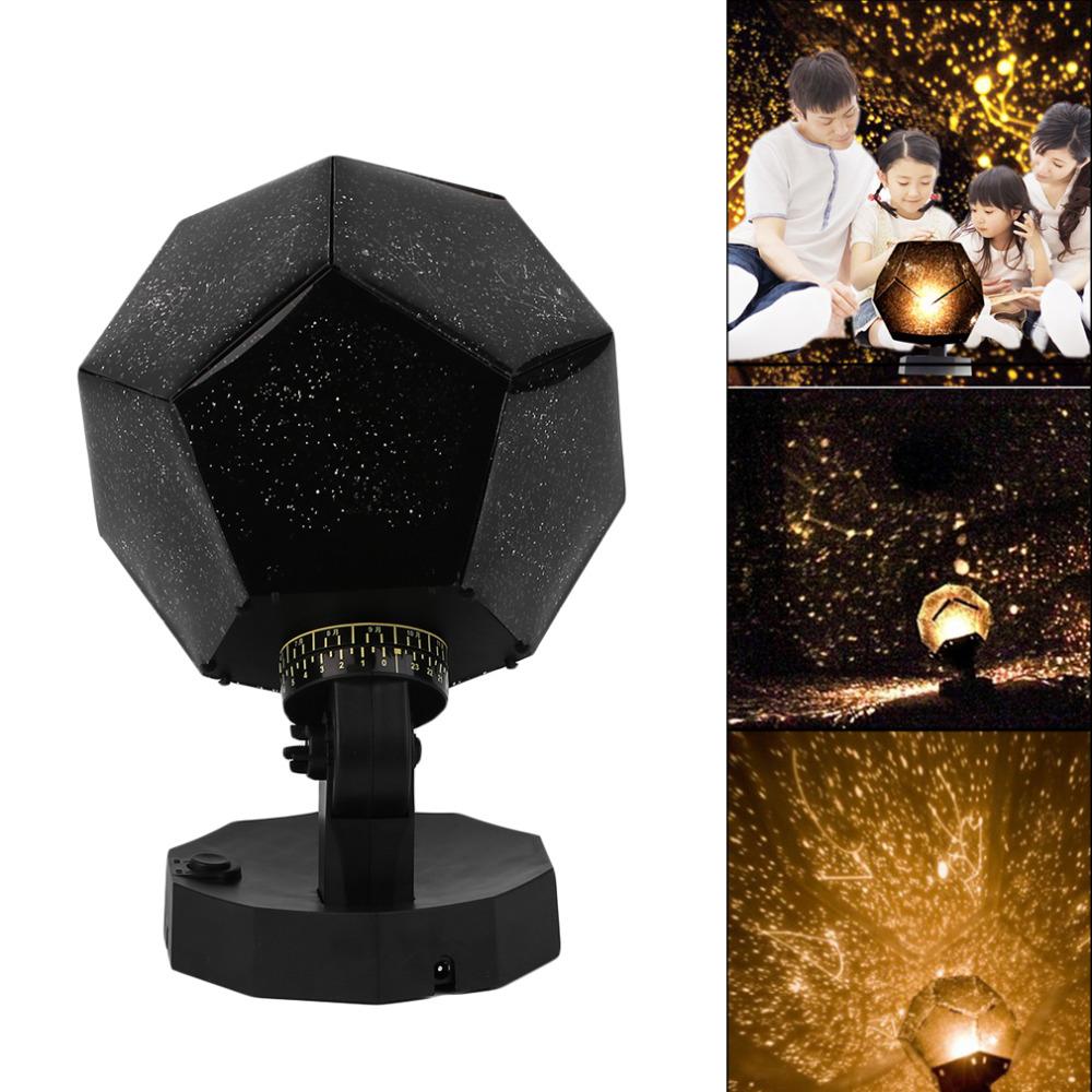 ICOCO Home Decor Romantic Astro Star Sky Projection Cosmos Night Lamp Starry Night Romantic Bedroom Decoration Gadgets 3 Colors