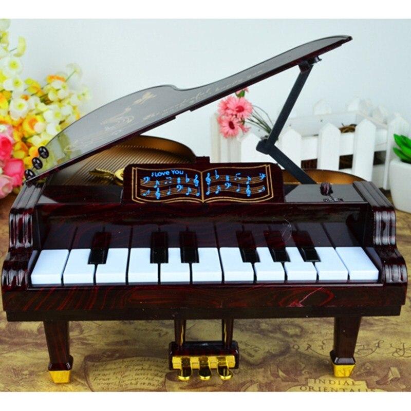 Новая музыкальная шкатулка педали фортепиано четырнадцать клавиатура играть ремесленное  ...