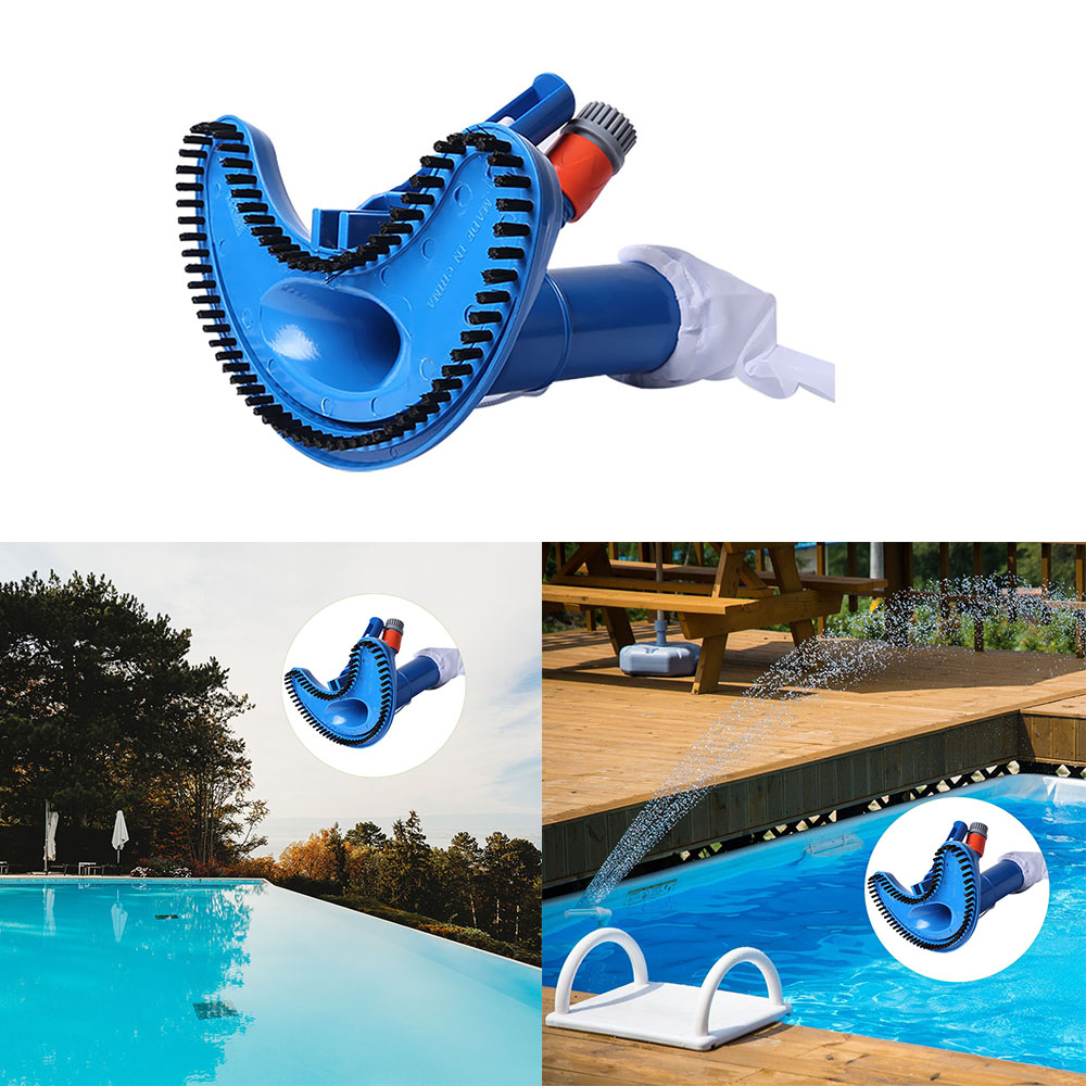 Mini Jet Swimming Pool Vacuum Cleaner Floating Objects Cleaning Tools Suction Head Pond Fountain Vacuum Brush Cleaner(China)