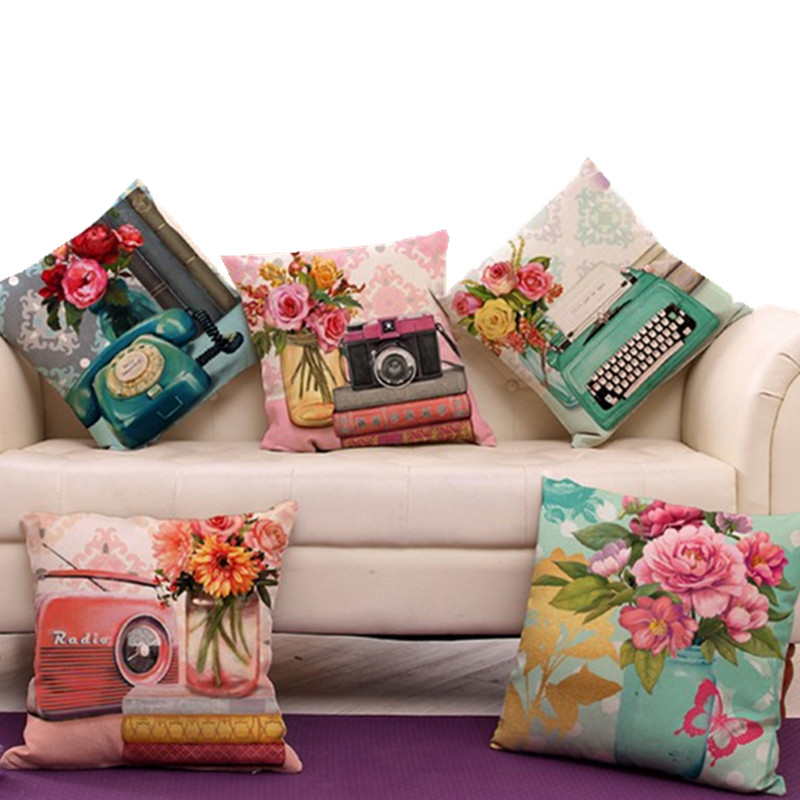 Buy Vintage Carema Telephone Pillow Cover