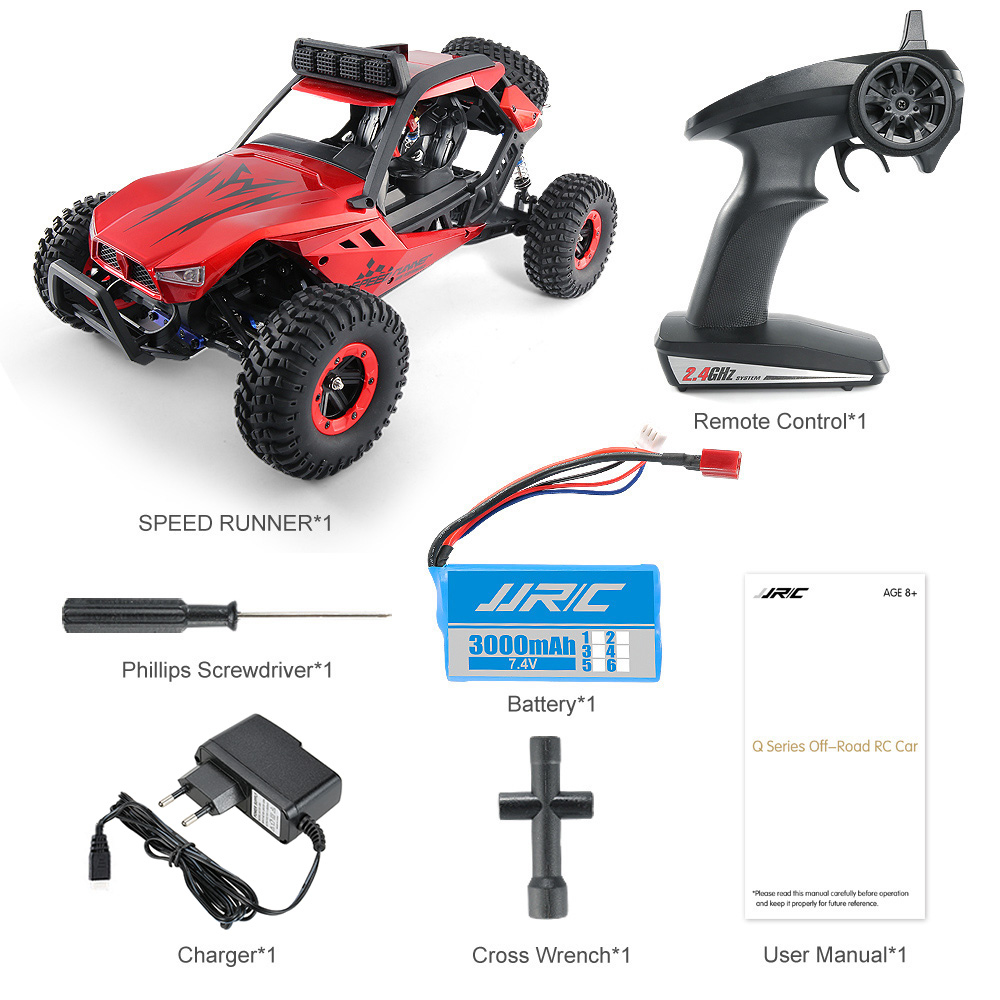 JJRC JJRC Q46 112 2.4G RC Car 4WD 45kmh High Speed Rock Crawler Desert Buggy Cars RTR for Kids Children Gifts RC Toys (8)