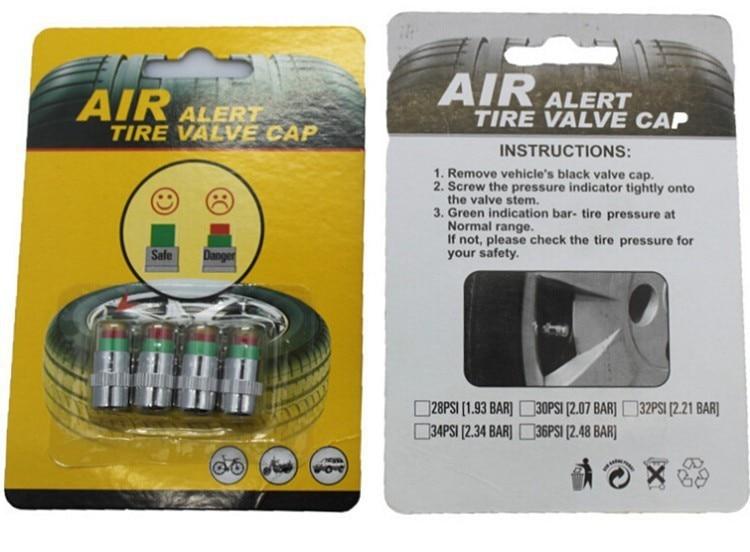 4PCS car auto tire pressure monitor gage alert Tire Pressure Monitoring Tool