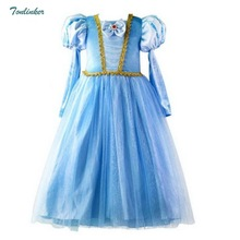 Little Girls Princess Sleeping Beauty Rapunzel Costume Puff Sleeve Tulle Dress Cosplay Halloween Birthday Fancy Party