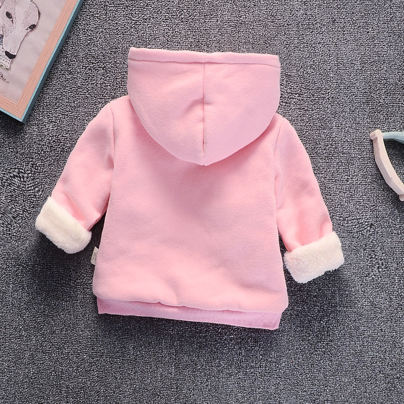 Baby Girl Boys Clothes Winter Thick Warm Children's Sweatshirt  Toddler Casual Hoodies for Girls Kids Plus Velvet Tops Costume 3
