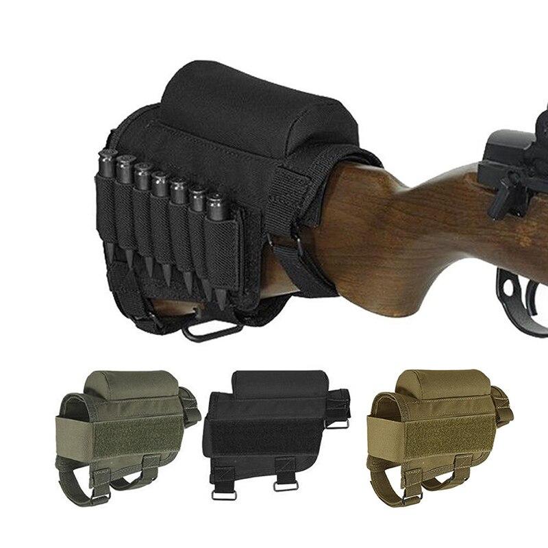 Alta Calidad De Nylon Táctica Rifle Ammo Culata Shell Holder Cheek resto Case Po