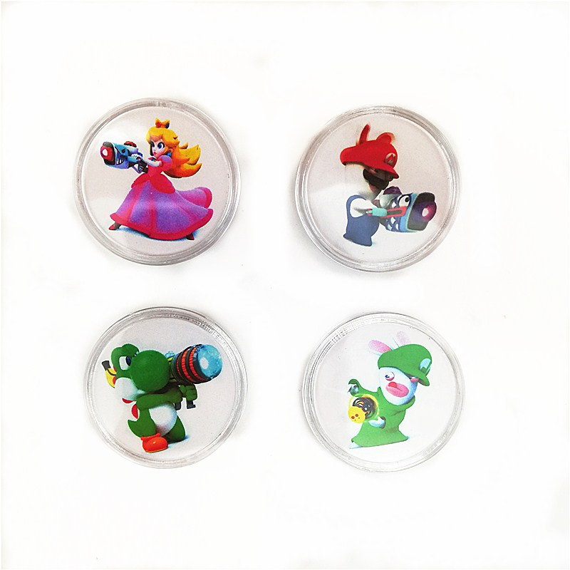 Fast Shipping 4Pcs/set Mario Rabbids Kingdom Battle NFC <font><b>Card</b></font> For <font><b>Amiibo</b></font> Coin Tag Zelda Smash <font><b>Splatoon</b></font> Kart Diablo Super Switch image