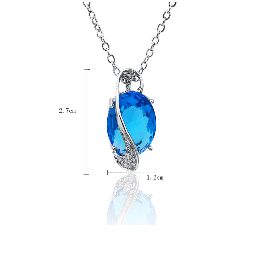 Fashion Crystal 925 Silver Jewlery Set 2016 Necklaces & Earrings Pendants Rings for Women Wedding Bridal 2