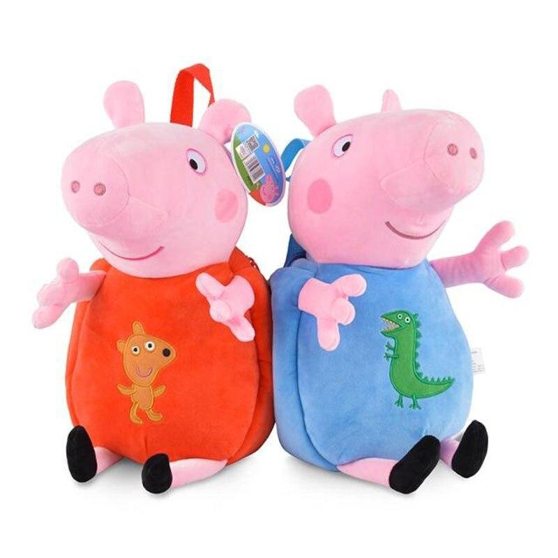 100% Genuine peppa pig 44cm Children's bags George Peppa Plush Backpack Kids Birthday Christmsa toy gift Hot sale 5