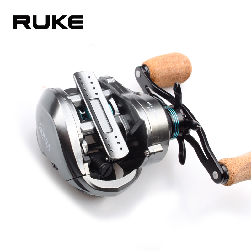 RUKE  new casting reel,  Double thread cup fishing reel,11+1 bearing.Brake Force 8 kg,Gear Ratio 8.1:1,free shipping