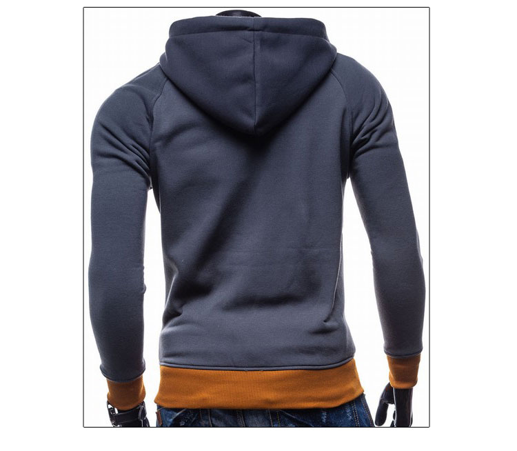 17 Hoodies Men Sudaderas Hombre Hip Hop Mens Brand Leisure Zipper Jacket Hoodie Sweatshirt Slim Fit Men Hoody XXL 8