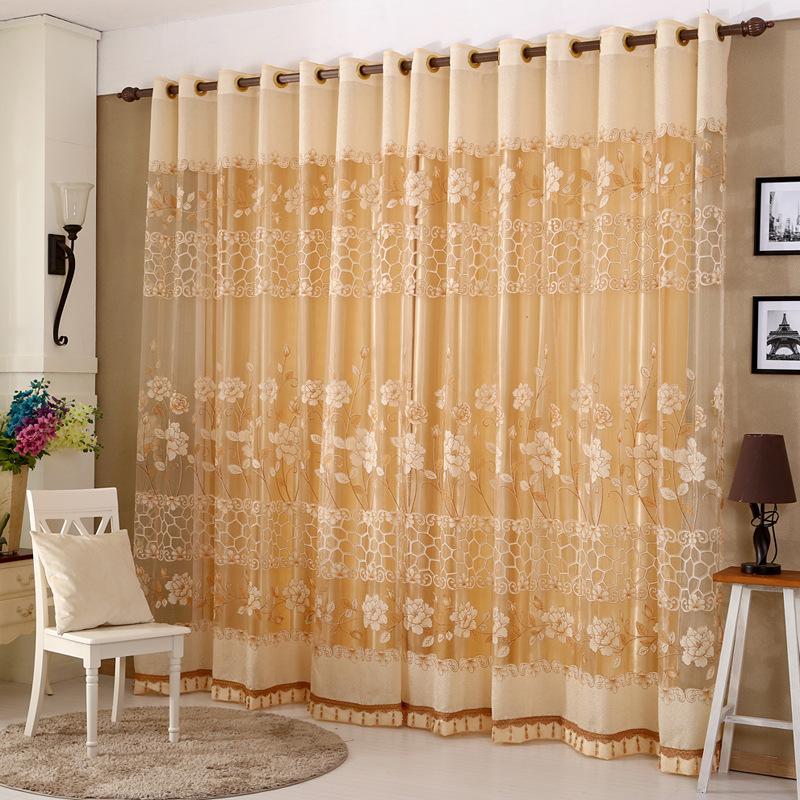 europeos de alta calidad bordado cortina de tul cortina dormitorio moderno jardn vertical nueva sala de