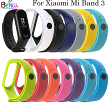 Bracelet For Xiaomi Mi Band 3 watch strap Wrist band Replacement soft Silicone band For Xiaomi Miband 3 smart Accessories Strap