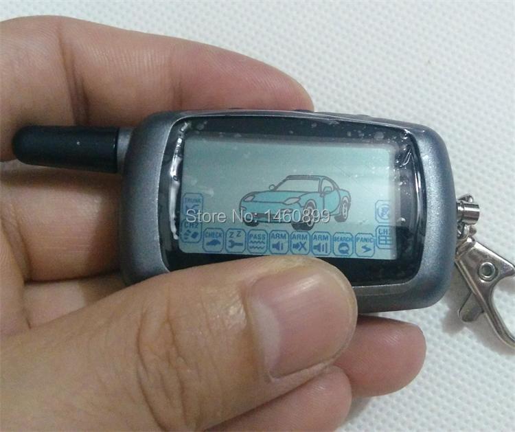 2-wege LCD Fernbedienung Schlüsselanhänger, Tamarack für Russische Version Fahrzeug Sicherheit Zweiwegautowarnungssystem System Twage Starline A6