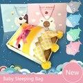 Tubarão dos desenhos animados Saco de Dormir Inverno Saco de Dormir Do Bebê Carrinhos de Cama roupa de Cama de Algodão Do Bebê Cobertor Swaddle Envoltório Bonito saco de Dormir Conjunto