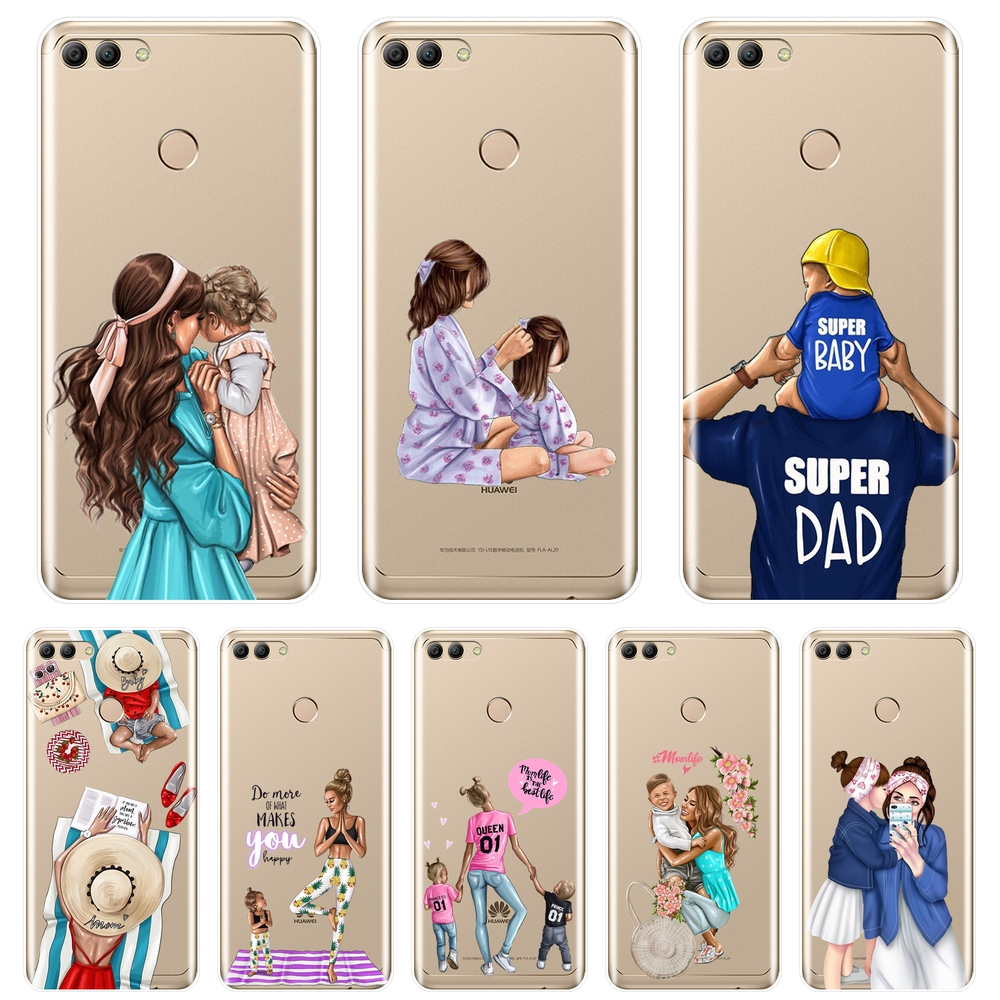 Soft <font><b>Case</b></font> For <font><b>Huawei</b></font> Y5 Y6 <font><b>Y7</b></font> Prime 2018 Y9 <font><b>2019</b></font> Mom Baby <font><b>Girl</b></font> Silicone Back Cover For <font><b>Huawei</b></font> Y3 Y5 Y6 <font><b>Y7</b></font> 2017 II Pro Phone <font><b>Case</b></font> image