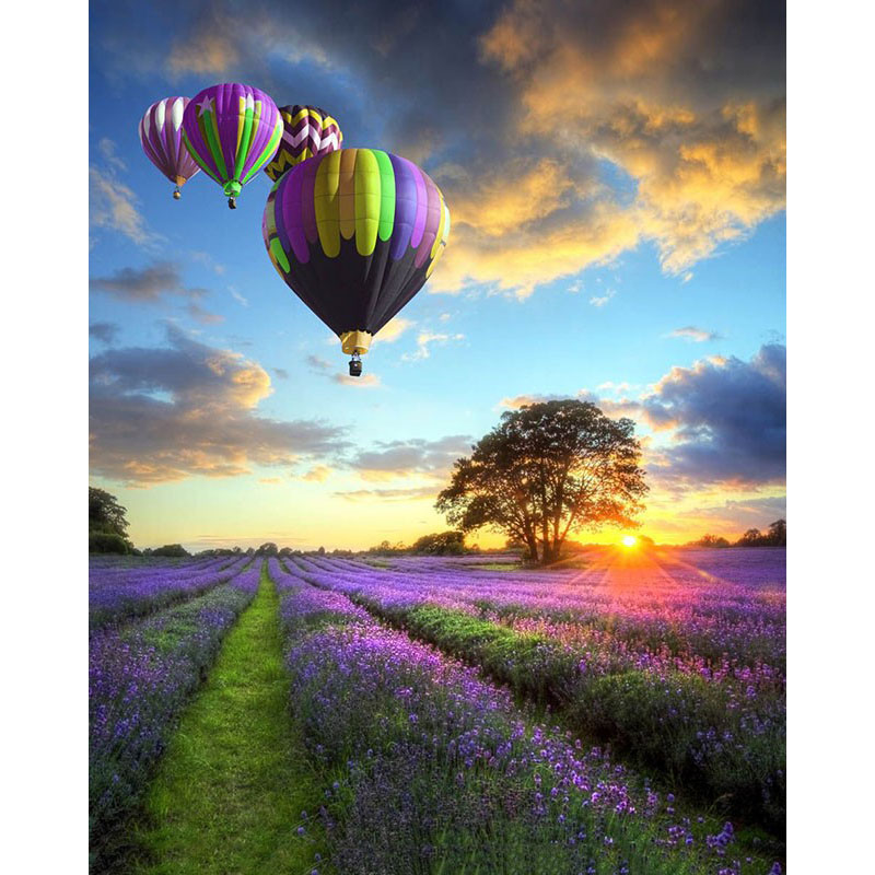 ArtSailing hot air balloon DIY Painting By Numbers Oil Painting On Canvas christmas present Gift For Home Decor-NP-030