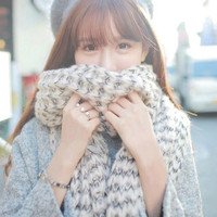 Fashion Unisex Mohair Knitting Wool   Scarves   Casual Thick long shawl   wrap   warm   scarf   Pashmina Long   Scarf