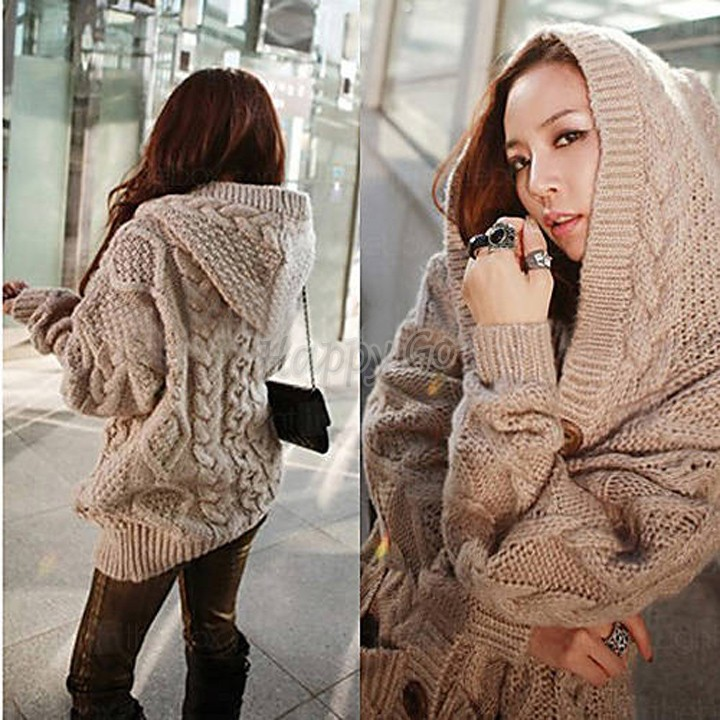 2014 Brand Han Knitted Cardigan Womens Winter Autumn Plus Size