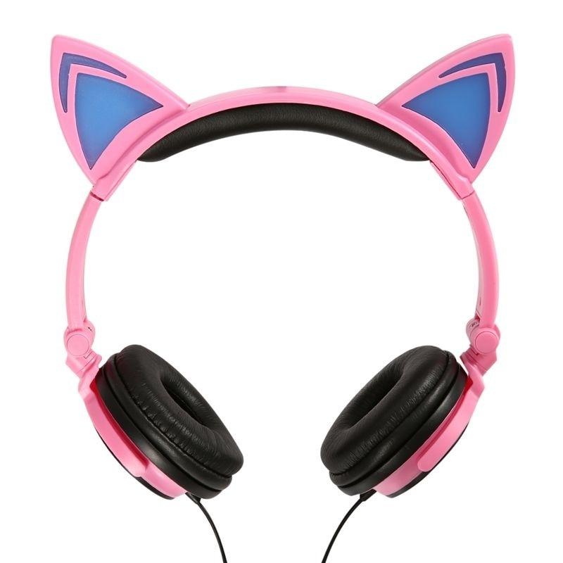 2017 nove luštne slušalke Glow Cat za deklice Led Cat ušesa - Prenosni avdio in video - Fotografija 4