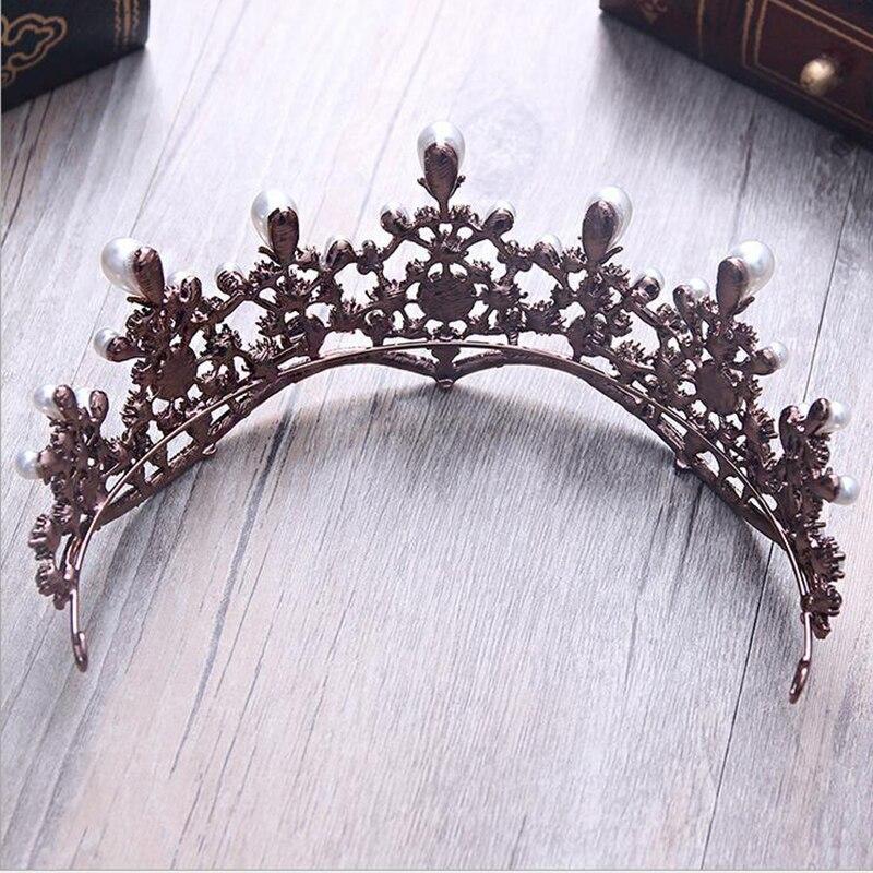 Luxuriöse Vintage Tiara Hohe Qualität Perlen Tiara Hochzeit Crown ...