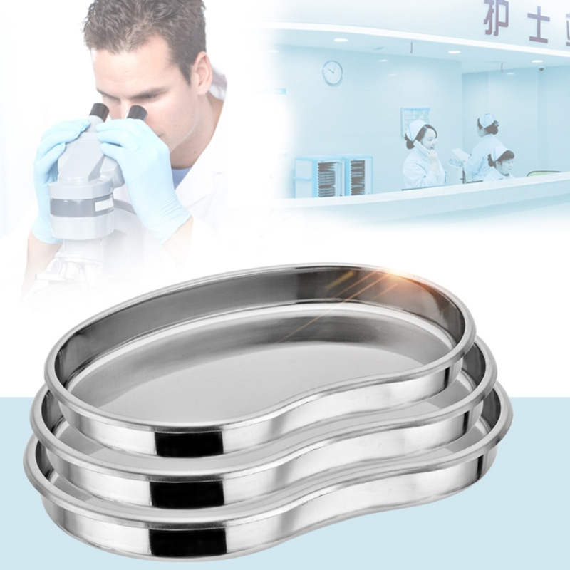 Medical Stainless Steel Kidney Bowl Curved Trays Dental Tool Surgical Use Trays