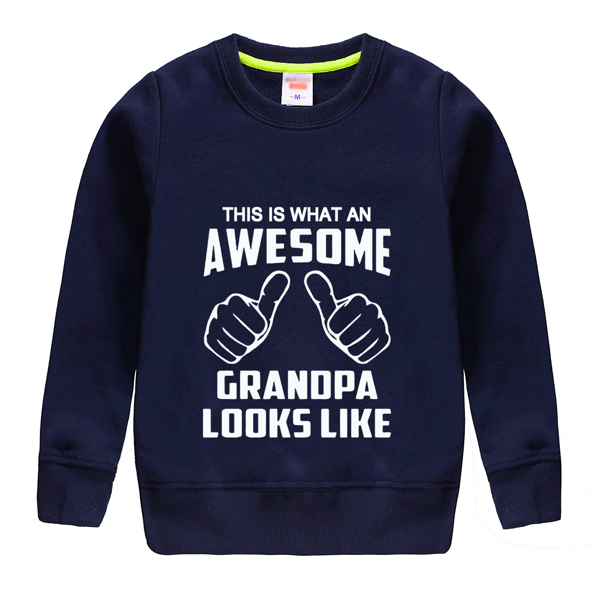 "HTB1Z.lIl6nD8KJjSspbq6zbEXXah - ""this is what an awesome granopa  looks like "" printing 2018 new fashion cotton sweatshirt baby boy clothing top tees for kids"