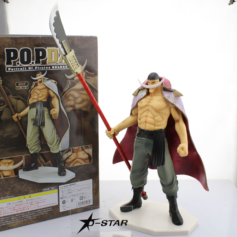Free Shipping 14 One Piece Anime P.O.P EX Whitebeard - Edward Newgate Boxed 35cm PVC Action Figure Model Doll Toys Gift one piece figure japanese one piece nico robin pvc 17cm action figures kids toys japanese anime figurine doll free shipping