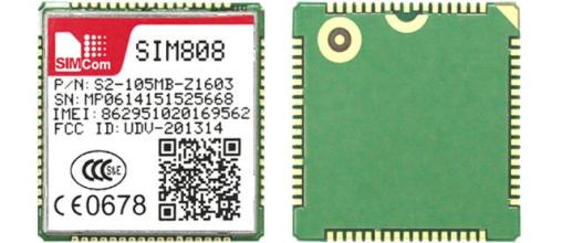 SIM808 module SIMCOM GSM GPRS GPS module industry lowest solution REAL tracking number 5pcs