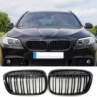 Gloss Black M Style Front Bumper Bar Kidney Grille For BMW F48 F49 X1 16 17