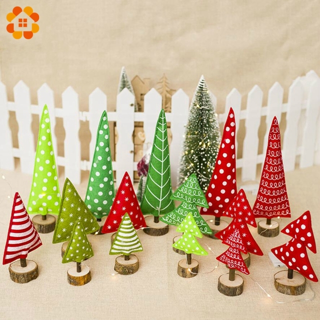 Creative Christmas Tree Diy Mini Trees Placed In The Desktop Small