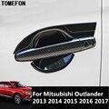 TOMEFON для Mitsubishi Outlander 2013 2014 2015 2016 2017  углеродное волокно  хромированная дверная ручка  крышка чашки  защитные аксессуары