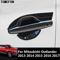 For Mitsubishi Outlander 2013 2014 2015 2016 2017 Chrome Door Handle Bowl Cup Cover Trim Protectors